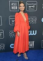 12 January 2020 - Santa Monica, California - Olivia Wilde. 25th Annual Critici's Choice Awards held at Barker Hangar. Photo Credit: Birdie Thompson/AdMedia