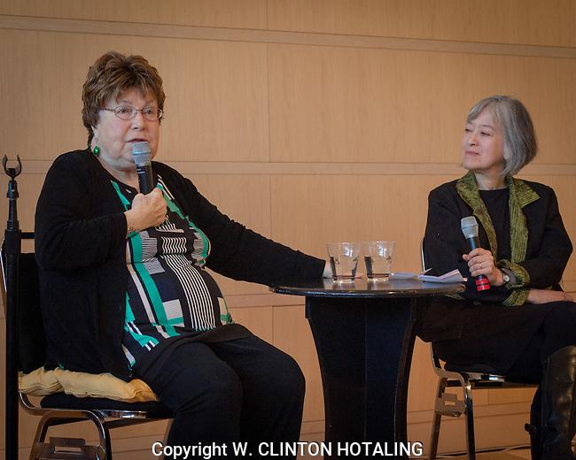 Ida Wyman and Melanie Herzog discuss Wyman's life and work at her exhibit in Madison, Wisconsin.