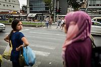 Makedonien. Skopje og Ohrid. På gaden i Skopje. Foto: Jens Panduro