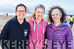 Francine Thurnheer (Ballydehob), Sharon Leevos (Skibbereen) and Marie Regan (Skibbereen) ready for the Inch Half Marathon on Inch Beach on Sunday morning.