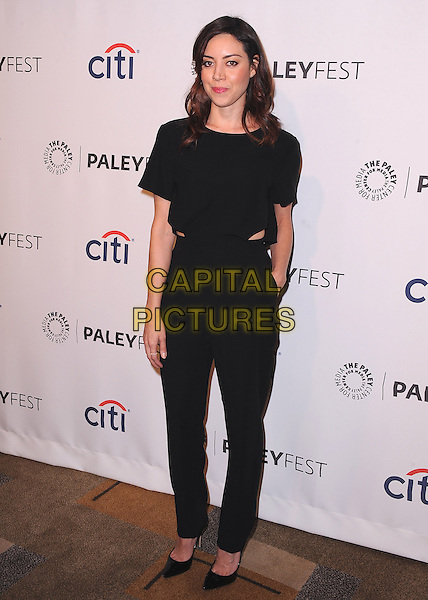 HOLLYWOOD, CA - MARCH 18:  Aubrey Plaza at PaleyFest 2014 - &quot;Parks &amp; Recreation&quot; at the Dolby Theatre on March 18, 2014 in Hollywood, California. <br /> CAP/MPI/PGKirkland<br /> &copy;PGKirkland/MediaPunch/Capital Pictures
