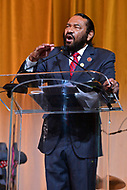 Washington, DC - September 14, 2018: U.S. Representative AL Green speaks after receiving an lNNPA leadership award during the National Newspaper Publishers Association awards banquet held at the Marriott Marquis in Washington, DC September 14, 2018.  (Photo by Don Baxter/Media Images International)
