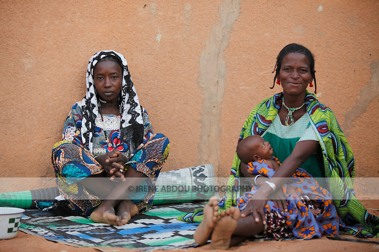 Fulani women and grandchild in Djibo in northern Burkina Faso, West Africa.