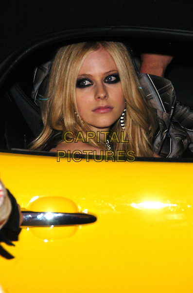 AVRIL LAVIGNE .Maxim Magazine's 8th Annual Hot 100 Party at Gansevoort Hotel, New York City, New York, USA..May 16th, 2007.headshot portrait car eyeliner makeup make-up make up .CAP/ADM/BL.©Bill Lyons/AdMedia/Capital Pictures *** Local Caption ***