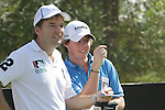 Rory McIlroy and caddy on the 4th tee box.on day one of the Dubai World Championship on the Earth Course at the Jumeirah Golf Estate, Dubai..Picture Fran Caffrey/www.golffile.ie.