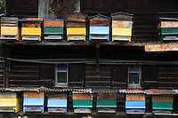 In Megève, just steps away from the village center, an old traditional Savoyard covered apiary is still in use today in this mountain area.