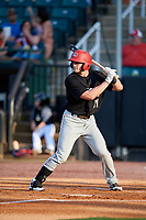 Chattanooga Lookouts third baseman Dan Gamache (21) at bat during a game against the Jackson Generals on April 29, 2017 at The Ballpark at Jackson in Jackson, Tennessee.  Jackson defeated Chattanooga 7-4.  (Mike Janes/Four Seam Images)