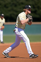 during the second game of a double header at Gene Hooks Stadium in Winston-Salem, NC, Sunday, March 9, 2008.