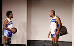 Ade Otukoya & Thaddeus Daniels - Layon Gray's Kings of Harlem - a story about the Harlem Rens who were one of the dominant basketball teams of the 1920's and 1930's - had a special show on September 15, 2015 at St. Luke's Theatre, New York City, New York. The play stars Melvin Huffnagle, Thaddeus Daniels, Ade Otukoya, Lamar Cheston, Delano Barbosa, Jeantique Oriol and Layon Gray.  (Photo by Sue Coflin/Max Photos)