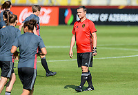 20170719 - BREDA , NETHERLANDS :  Belgian head coach Ives Serneels pictured during Matchday -1 training session of the Belgian national women's soccer team Red Flames on the pitch of NAC BREDA , on wednesday 19 July 2017 in stadion Rat Verlegh in Breda . The Red Flames are at the Women's European Championship 2017 in the Netherlands. PHOTO SPORTPIX.BE | DAVID CATRY