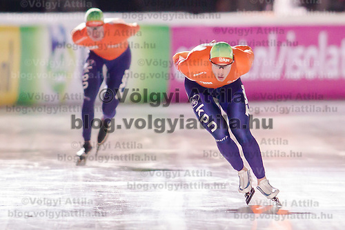 Nederland's Jan Blokhuijsen placed second in the Men's 10000m race of the Speed Skating All-round European Championships in Budapest, Hungary on January 8, 2012. ATTILA VOLGYI