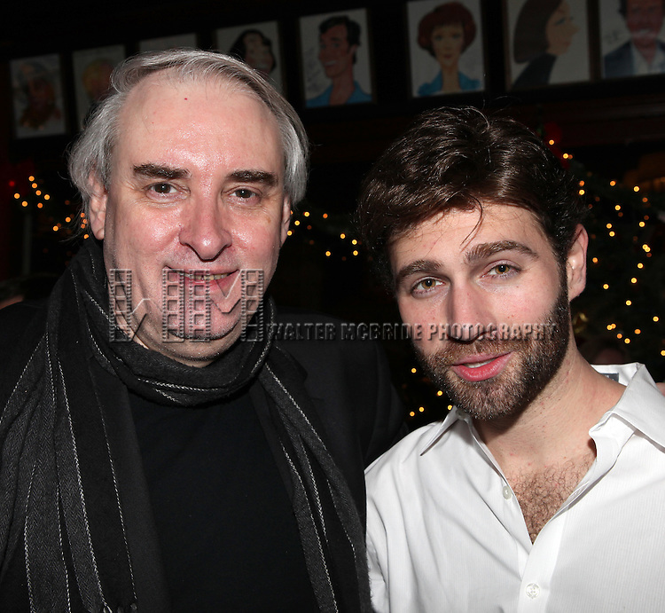 Paul Alexander (Director) and John Buffalo Mailer .attending the Opening Night After Party for the Off-Broadway production of 'Dracula' at Sardis' in New York City.