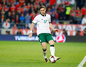 9th October 2017, Cardiff City Stadium, Cardiff, Wales; FIFA World Cup Qualification, Wales versus Republic of Ireland; Stephen Ward on the ball for Republic of Ireland