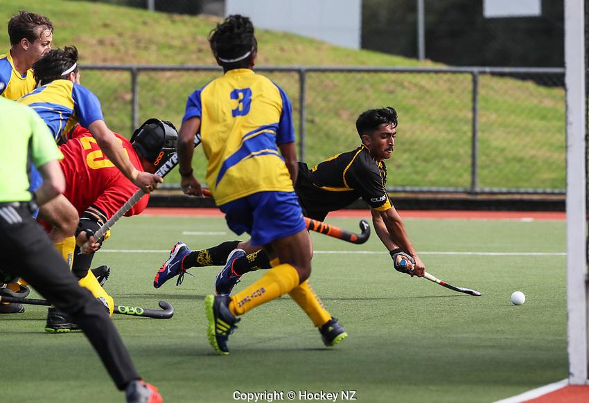 Capital v Southern Men. Under 21 National Hockey Championships, North Harbour Hockey Stadium, Auckland, Tuesday 7 May 2019. Photo: Simon Watts/Hockey NZ