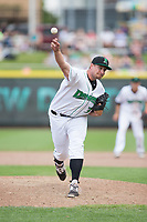 Dayton Dragons relief pitcher Joel Kuhnel (36) delivers a pitch to the plate against the West Michigan Whitecaps at Fifth Third Field on May 29, 2017 in Dayton, Ohio.  The Dragons defeated the Whitecaps 4-2.  (Brian Westerholt/Four Seam Images)