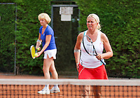 2013,August 24,Netherlands, Amstelveen,  TV de Kegel, Tennis, NVK 2013, National Veterans Tennis Championships,   Doubles<br /> Photo: Henk Koster