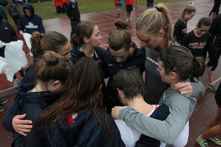 October 27, 2012; Portland, OR, USA; Gonzaga Bulldogs during the WCC Cross Country Championships at Fernhill Park.
