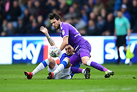 Bolton Wanderers' Will Buckley vies for possession with Sheffield Wednesday's Jack Hunt<br /> <br /> Photographer Chris Vaughan/CameraSport<br /> <br /> The EFL Sky Bet League Two - Mansfield Town v Lincoln City - Tuesday 6th March 2018 - Field Mill - Mansfield<br /> <br /> World Copyright &copy; 2018 CameraSport. All rights reserved. 43 Linden Ave. Countesthorpe. Leicester. England. LE8 5PG - Tel: +44 (0) 116 277 4147 - admin@camerasport.com - www.camerasport.com