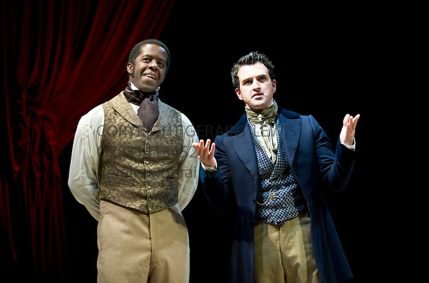 Red Velvet by Lolita Chakrabarti, directed by Indhu Rubasingham. With Adrian Lester as Ira Aldridge, Eugene O'Hare as Pierre Laporte. Opens at The Tricycle Theatre on 16/10/12.  CREDIT Geraint Lewis