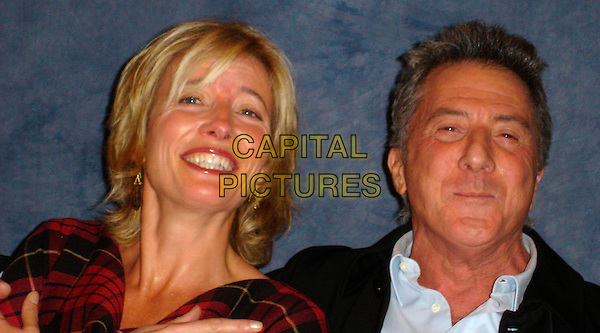 EMMA THOMPSON & DUSTIN HOFFMAN.Photocall for in the Wetherly Room at The Four Seasons Hotel in Beverly Hills, USA. .November 1st, 2006.Ref: AW.headshot portrait . oprowww.capitalpictures.com.sales@capitalpictures.com.©Anita Weber/Capital Pictures.