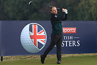 Andy Sullivan (ENG) on the 2nd tee during the Pro-Am for the Sky Sports British Masters at Walton Heath Golf Club in Tadworth, Surrey, England on Tuesday 10th Oct 2018.<br />
