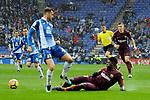 League Santander 2017-2018 - Game: 22.<br /> RCD Espanyol vs FC Barcelona: 1-1.<br /> Leo Baptistao vs Samuel Umtiti.