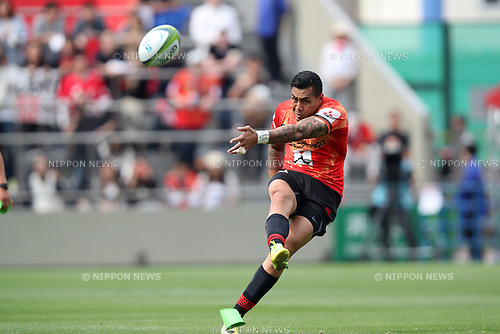 Tusi Pisi (Sunwolves),<br /> APRIL 23, 2016 - Rugby : Super Rugby match between Sunwolves 36-28 Jaguares at Prince Chichibu Memorial Stadium in Tokyo, Japan. (Photo by AFLO SPORT)