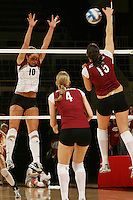 3 December 2005: Kristin Richards during Stanford's 3-1 loss to Santa Clara University at Maples Pavilion in Stanford, CA.