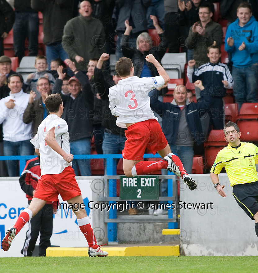 16/10/2010   Copyright  Pic : James Stewart.sct_jsp015_stirling_v_dundee  .:: ROSS FORSYTH CELEBRATES AFTER HE SCORES ALBION'S EQUALISER ::  .James Stewart Photography 19 Carronlea Drive, Falkirk. FK2 8DN      Vat Reg No. 607 6932 25.Telephone      : +44 (0)1324 570291 .Mobile              : +44 (0)7721 416997.E-mail  :  jim@jspa.co.uk.If you require further information then contact Jim Stewart on any of the numbers above.........