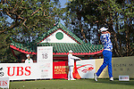 Scott Hend of Australia tees off the 18th hole during the 58th UBS Hong Kong Golf Open as part of the European Tour on 09 December 2016, at the Hong Kong Golf Club, Fanling, Hong Kong, China. Photo by Vivek Prakash / Power Sport Images