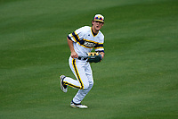 Michigan Wolverines center fielder Cody Bruder (3) during the first game of a doubleheader against the Canisius College Golden Griffins on June 20, 2016 at Tradition Field in St. Lucie, Florida.  Michigan defeated Canisius 6-2.  (Mike Janes/Four Seam Images)