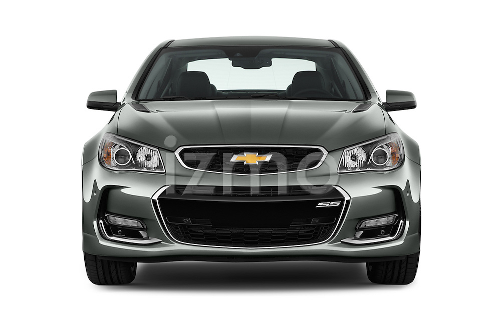 Car photography straight front view of a 2017 Chevrolet SS 6.2 4 Door Sedan Front View