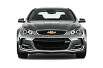 Car photography straight front view of a 2016 Chevrolet SS 6.2 4 Door Sedan Front View