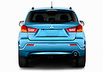 Straight rear view of a 2011 Mitsubishi Outlander Sport SE