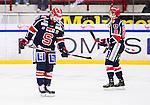 S&ouml;dert&auml;lje 2014-10-23 Ishockey Hockeyallsvenskan S&ouml;dert&auml;lje SK - Malm&ouml; Redhawks :  <br /> S&ouml;dert&auml;ljes Francois Bouchard deppar med Mattias Beck efter matchen mellan S&ouml;dert&auml;lje SK och Malm&ouml; Redhawks <br /> (Foto: Kenta J&ouml;nsson) Nyckelord: Axa Sports Center Hockey Ishockey S&ouml;dert&auml;lje SK SSK Malm&ouml; Redhawks depp besviken besvikelse sorg ledsen deppig nedst&auml;md uppgiven sad disappointment disappointed dejected