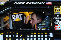 Feb 11, 2009; Daytona Beach, FL, USA; NASCAR Sprint Cup Series driver Ryan Newman during practice for the Daytona 500 at Daytona International Speedway. Mandatory Credit: Mark J. Rebilas-