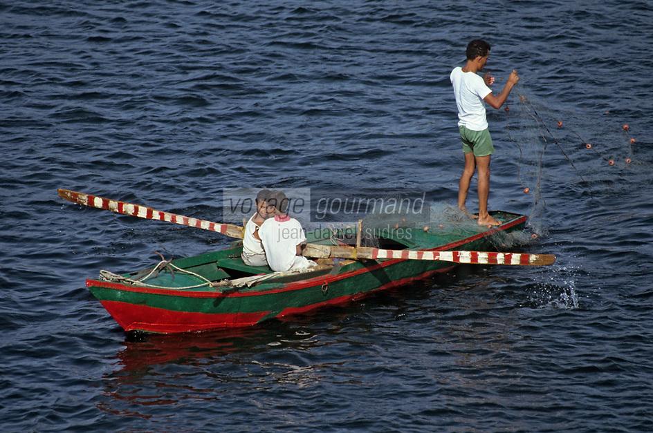 Afrique/Egypte: Pêche sur les bords du Nil