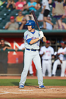 Brandon Hughes (11) of the South Bend Cubs at bat against the Lansing Lugnuts at Cooley Law School Stadium on June 15, 2018 in Lansing, Michigan. The Lugnuts defeated the Cubs 6-4.  (Brian Westerholt/Four Seam Images)