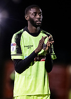 Bolton Wanderers' Muhammadu Faal applauds his side's travelling supporters at the end of the match <br /> <br /> Photographer Andrew Kearns/CameraSport<br /> <br /> The EFL Sky Bet League One - Lincoln City v Bolton Wanderers - Tuesday 14th January 2020  - LNER Stadium - Lincoln<br /> <br /> World Copyright © 2020 CameraSport. All rights reserved. 43 Linden Ave. Countesthorpe. Leicester. England. LE8 5PG - Tel: +44 (0) 116 277 4147 - admin@camerasport.com - www.camerasport.com