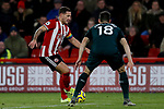 Billy Sharp of Sheffield United runs at Federico Fernandez of Newcastle United  during the Premier League match at Bramall Lane, Sheffield. Picture date: 5th December 2019. Picture credit should read: James Wilson/Sportimage