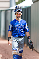 Team Italy catcher Alberto Mineo (36) before an exhibition game against the Oakland Athletics at Lew Wolff Training Complex on October 3, 2018 in Mesa, Arizona. (Zachary Lucy/Four Seam Images)