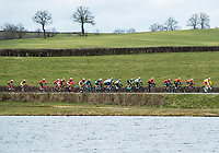Picture by Alex Broadway/SWpix.com - 06/03/2018 - Cycling - 2018 Paris Nice - Stage Two - Orsonville to Vierzon  - The peloton rides through the French countryside.<br /> <br /> NOTE : FOR EDITORIAL USE ONLY. THIS IS A COPYRIGHT PICTURE OF ASO. A MANDATORY CREDIT IS REQUIRED WHEN USED WITH NO EXCEPTIONS to ASO/Alex Broadway MANDATORY CREDIT/BYLINE : ALEX BROADWAY/ASO