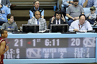 CHAPEL HILL, NC - FEBRUARY 1: Jay Alter and Jordan Cornette call the game for the ACC Network during a game between Boston College and North Carolina at Dean E. Smith Center on February 1, 2020 in Chapel Hill, North Carolina.