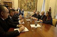 Il Presidente del Consiglio Mario Monti, il Ministro delle politiche agricole alimentari e forestali Mario Catania, incontranoi i rappresentanti delle maggiori organizzazioni della filiera agroalimentare nazionale, Confagricoltura, Coldiretti.