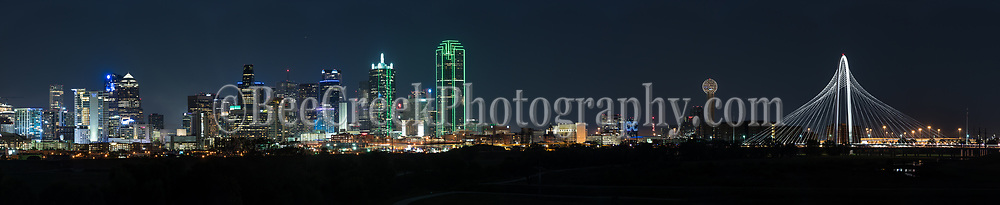 Dallas skyline panorama view of the city with the Margaret Hunt Hill Bridge  in the scene. Also in this image is the Reunion Tower, the Bank of America Plaza, Renaissance Tower, Comercia Bank Tower, Omin Hotel, along with many other downtown high rise buildings. Dallas has some of the tallest skyscrapers buildings in Texas, second only to Houston. The Bank of America Plaza stands at 921 feet and the Renaissance Tower at 886 feet as two of the tallest buildings in the southern US. Dallas is also the fourth most populous city in Texas with an estimate of 1, 197 million, but the Dallas-Fort Worth metroplex has the greatest population in Texas at over 7 million for the 2016 census. Dallas is the main draw to the area with it modern city it has become a main area for coporate head quarters like AT&T, ExxonMobile, Nokia, Rockwell, and the list goes on for fortune 500 companies located in the area.