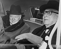 Winston Churchill and Bernard Barcuch, 1961