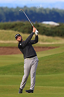 Jon Rahm (ESP) on the 16th during Round 3 of the Alfred Dunhill Links Championship 2019 at St. Andrews Golf CLub, Fife, Scotland. 28/09/2019.<br /> Picture Thos Caffrey / Golffile.ie<br /> <br /> All photo usage must carry mandatory copyright credit (© Golffile | Thos Caffrey)