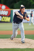 Salem Red Sox pitcher Teddy Stankiewicz (19) on the mound during a game against the Myrtle Beach Pelicans at Ticketreturn.com Field at Pelicans Ballpark on May 5, 2015 in Myrtle Beach, South Carolina.  Myrtle Beach defeated Salem  5-2. (Robert Gurganus/Four Seam Images)