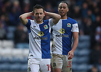Blackburn Rovers' Jack Payne and Blackburn Rovers' Elliott Bennett<br /> <br /> Photographer Rachel Holborn/CameraSport<br /> <br /> The EFL Sky Bet League One - Blackburn Rovers v Oldham Athletic - Saturday 10th February 2018 - Ewood Park - Blackburn<br /> <br /> World Copyright &copy; 2018 CameraSport. All rights reserved. 43 Linden Ave. Countesthorpe. Leicester. England. LE8 5PG - Tel: +44 (0) 116 277 4147 - admin@camerasport.com - www.camerasport.com