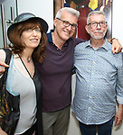 Jackie Green, Tom D'Ambrosia and Sam Rudy during the Retirement Celebration for Sam Rudy at Rosie's Theater Kids on July 17, 2019 in New York City.